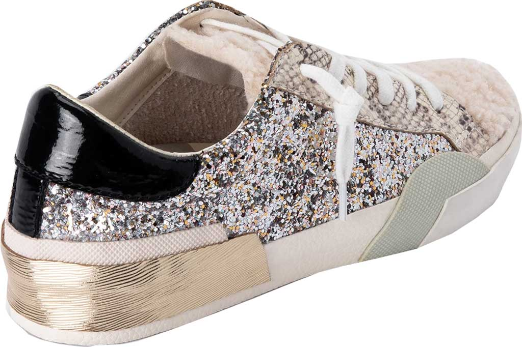 Women's Dolce Vita Zina Plush Sneaker, Silver Multi Glitter/Synthetic Fabric, large, image 3