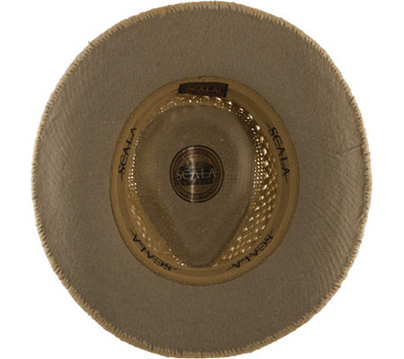 Men's Scala MR112OS Crocheted Outback Straw Hat, Natural, large, image 2