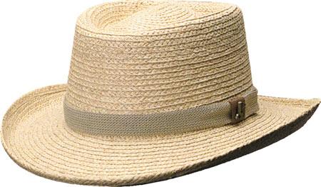 Men's Scala 321OS Gambler Straw Hat with Golf Badge, Natural, large, image 1