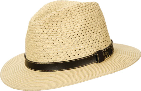 Men's Scala MS318 Braided Safari Hat, Natural, large, image 1