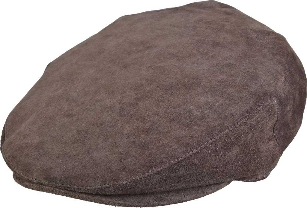 Men's Stetson STW285 Flat Cap, Brown, large, image 1