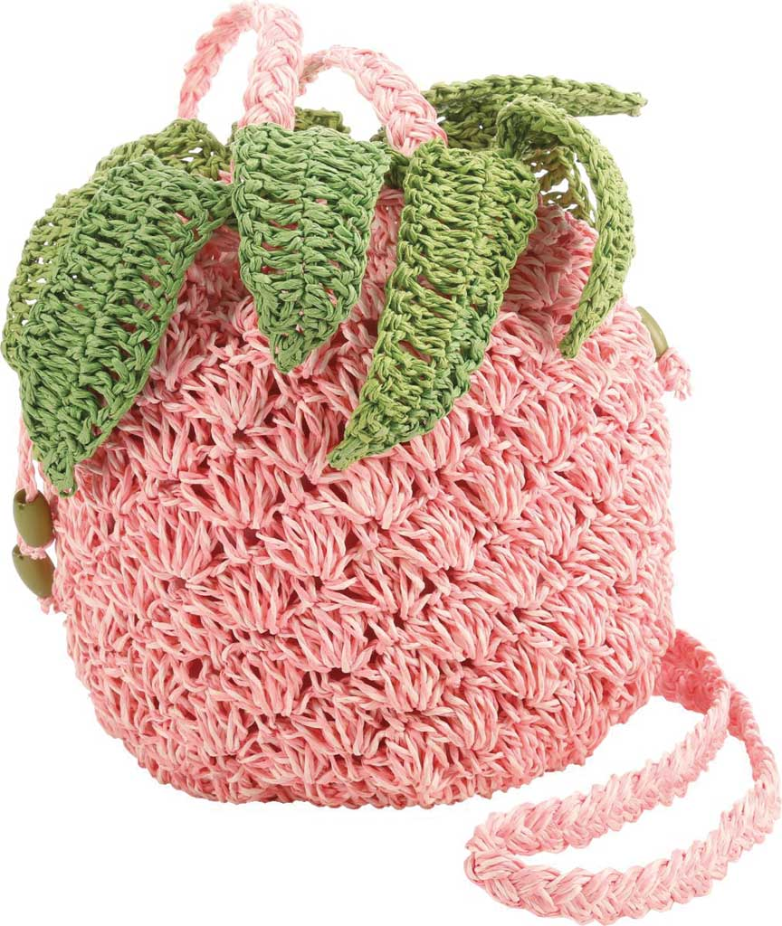 Women's Cappelli Straworld BAG1197 Braided Handle Crochet Cross Body Bag, Pink, large, image 1