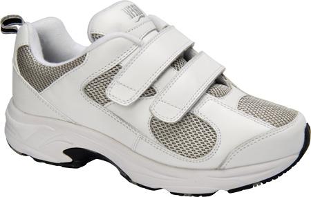 Women's Drew Flash II V, White Leather/Grey Mesh, large, image 1