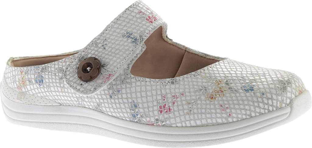 Women's Drew Juniper, White Floral Snake Print Leather, large, image 1