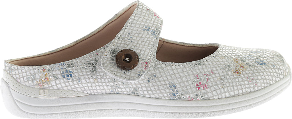 Women's Drew Juniper, White Floral Snake Print Leather, large, image 2