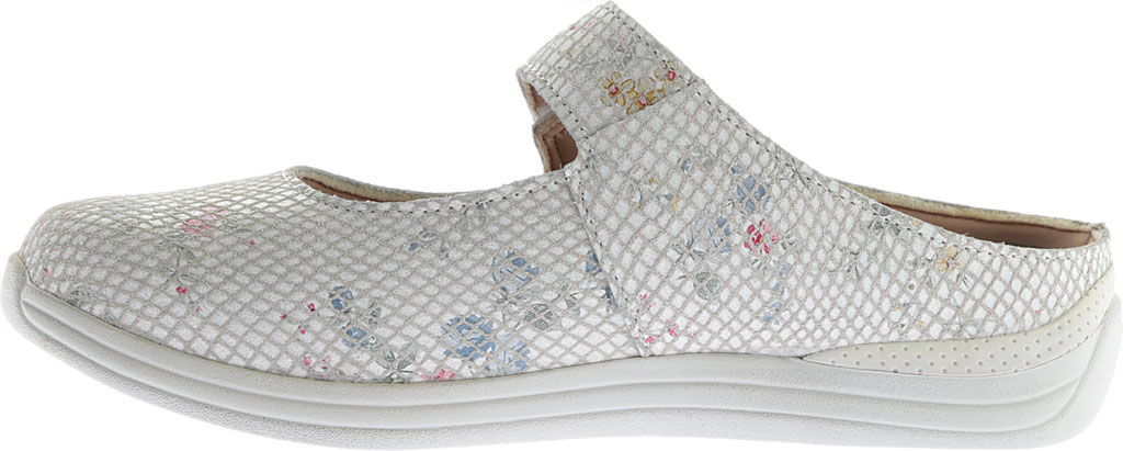 Women's Drew Juniper, White Floral Snake Print Leather, large, image 3