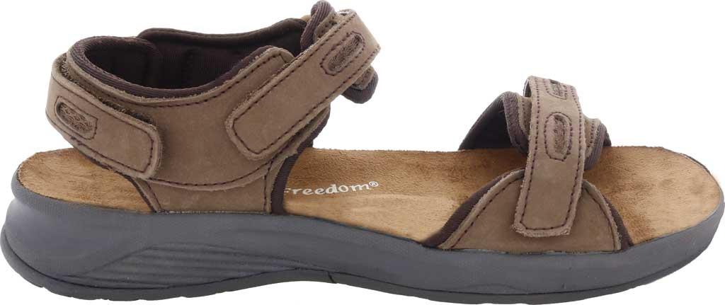 Women's Drew Cascade Sandal, Brown Nubuck, large, image 2