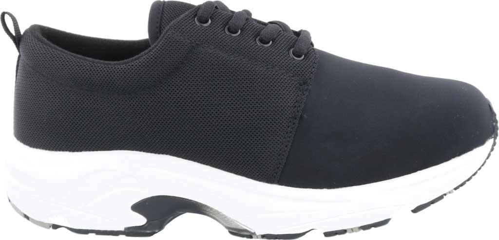Women's Drew Excel Sneaker, Black Leather/Nylon, large, image 2