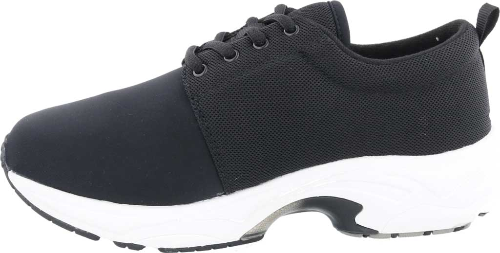 Women's Drew Excel Sneaker, Black Leather/Nylon, large, image 3