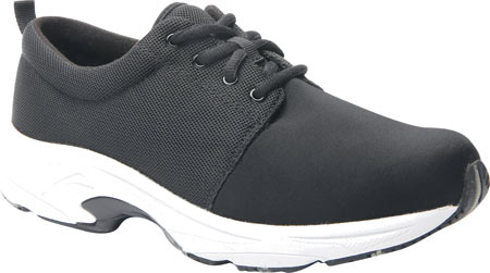Women's Drew Excel Sneaker, Black Leather/Nylon, large, image 1