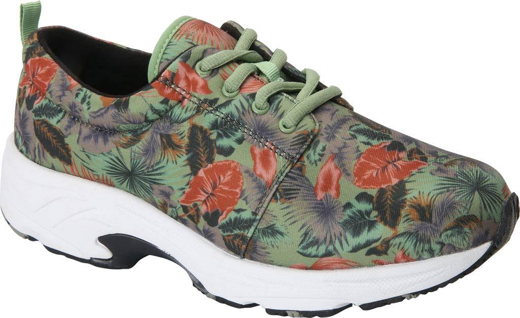 Women's Drew Excel Sneaker, Green Multi Fabric, large, image 1