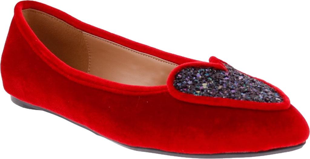 Women's Penny Loves Kenny Nookie Glitter Flat, Red Velvet, large, image 1
