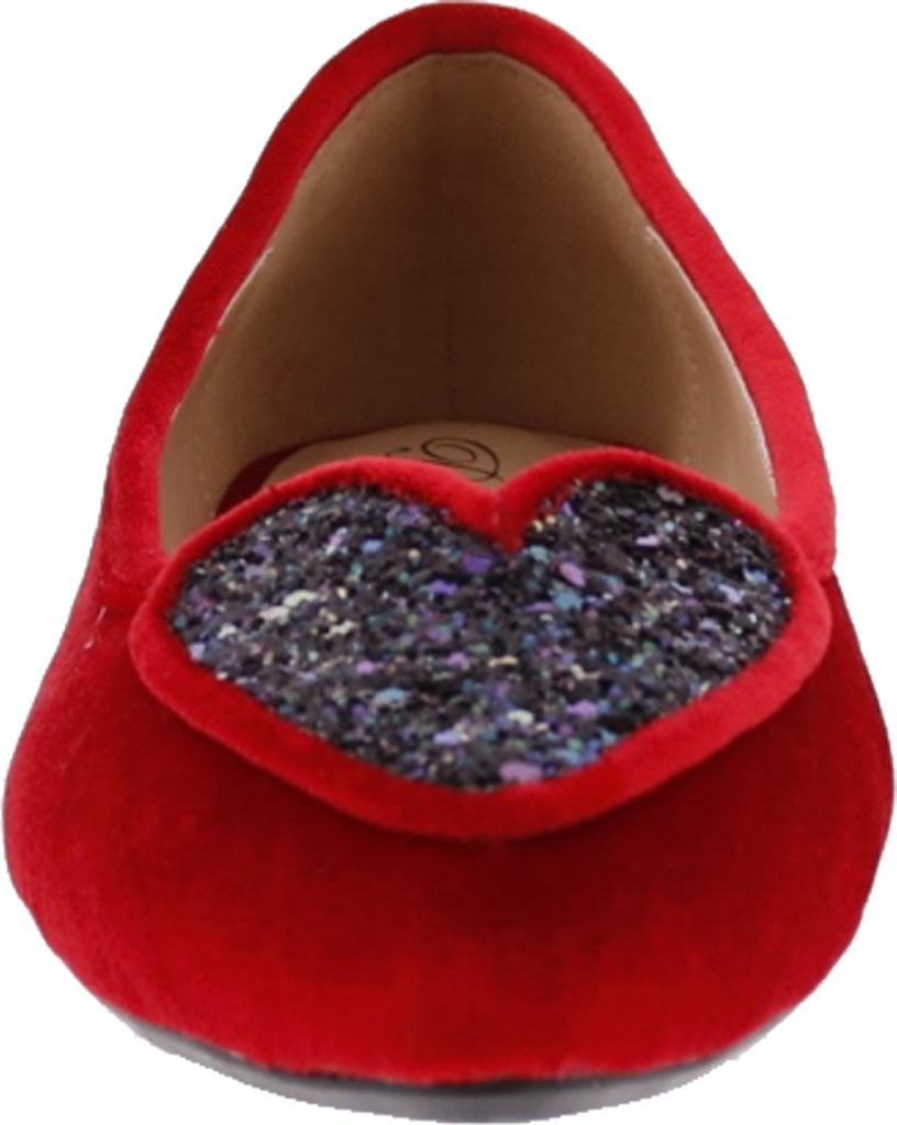 Women's Penny Loves Kenny Nookie Glitter Flat, Red Velvet, large, image 4