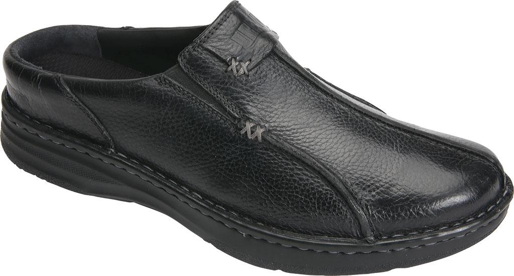 Men's Drew Jackson Mule, Black Leather, large, image 1
