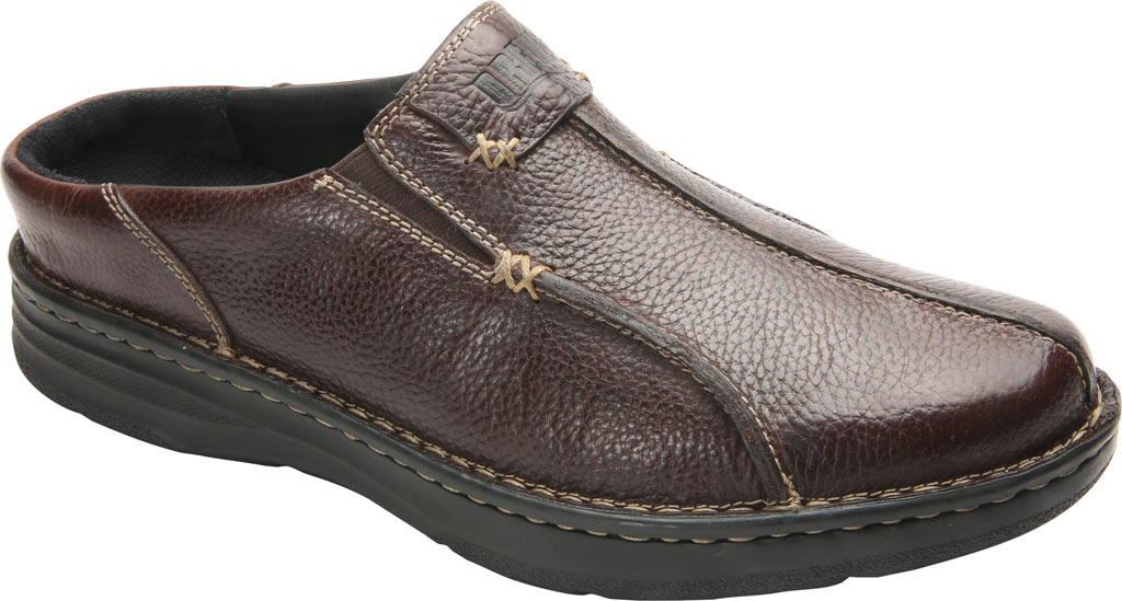 Men's Drew Jackson Mule, Brown Leather, large, image 1