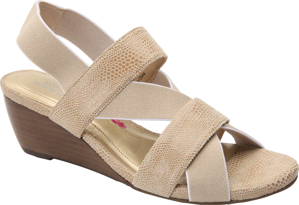 Women's Ros Hommerson Wynona Strappy Wedge Sandal, Nude Leather, large, image 1