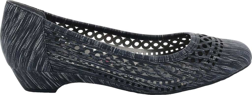 Women's Ros Hommerson Tina Flat, Black Laser Stripe Fabric, large, image 2