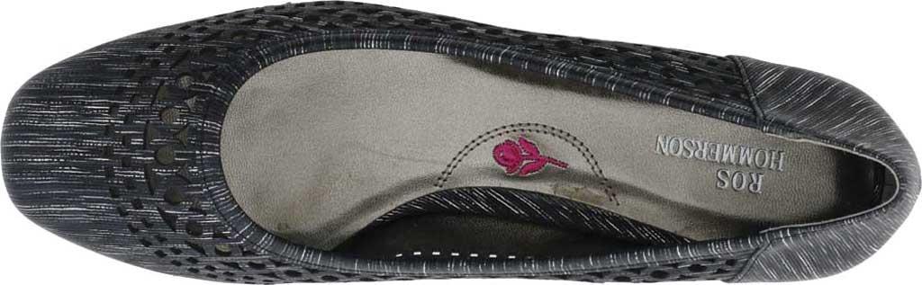 Women's Ros Hommerson Tina Flat, Black Laser Stripe Fabric, large, image 4