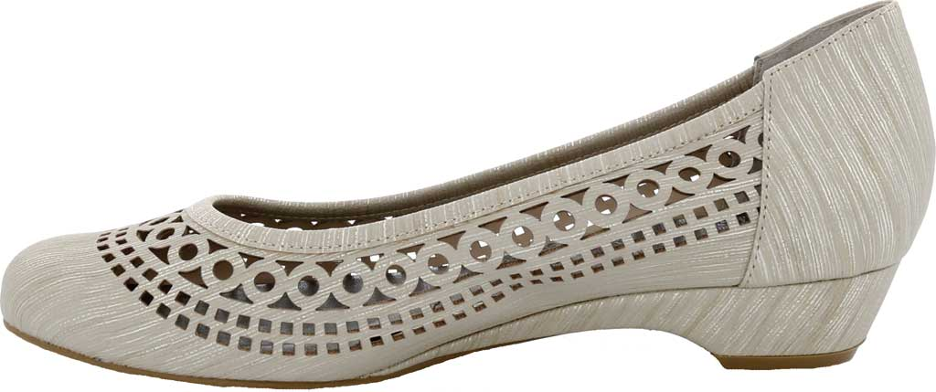 Women's Ros Hommerson Tina Flat, Taupe Laser Stripe Fabric, large, image 3