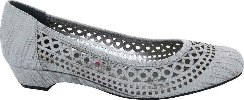 Women's Ros Hommerson Tina Flat, Silver Laser Stripe Fabric, large, image 2