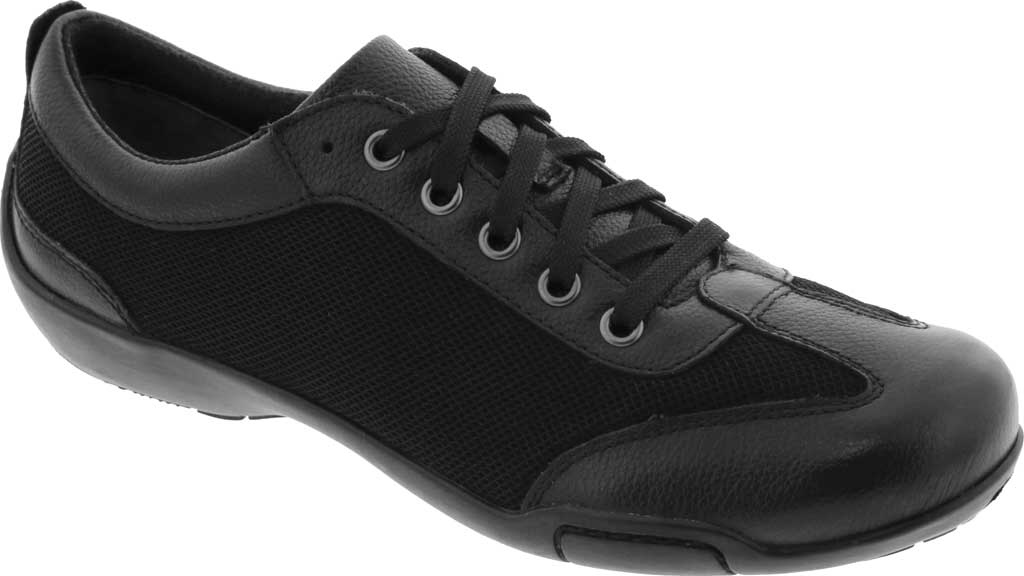 Women's Ros Hommerson Camp Sneaker, Black Leather/Fabric, large, image 1