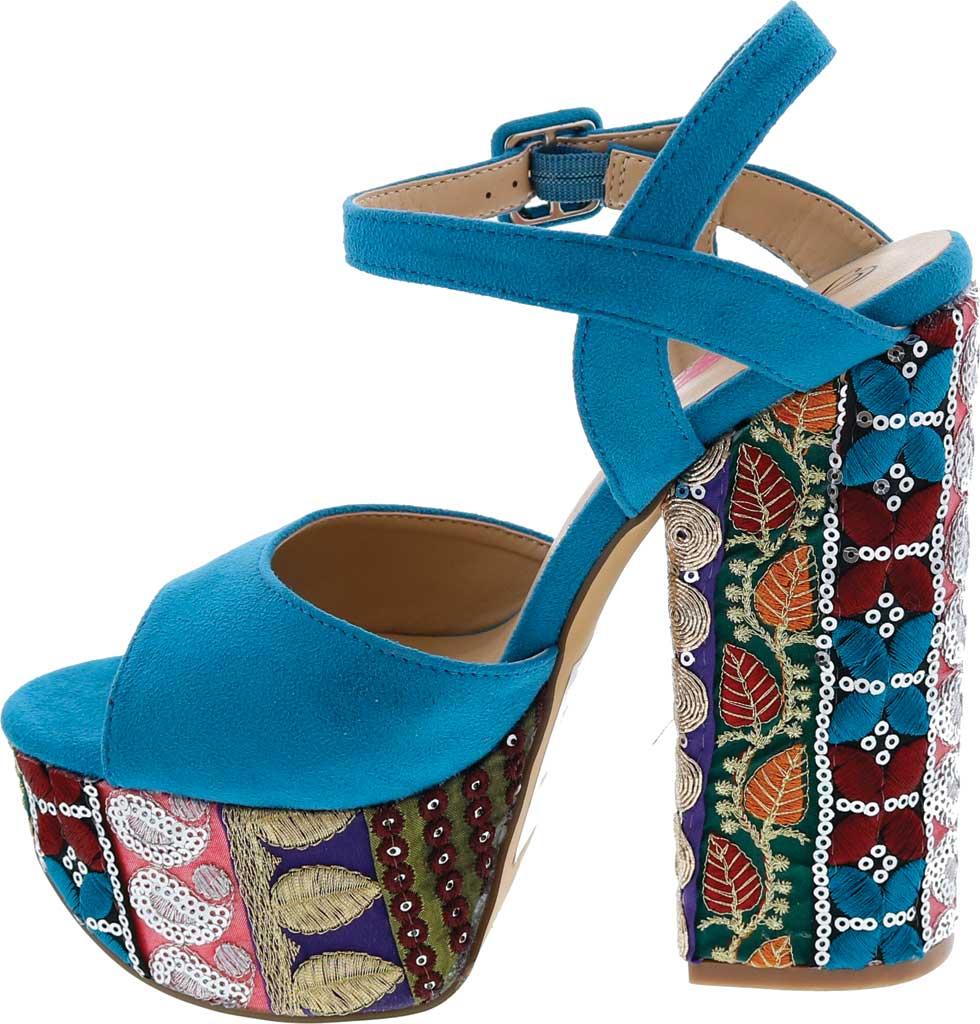 Women's Penny Loves Kenny Skip Platform Sandal, Blue Micro Suede, large, image 3