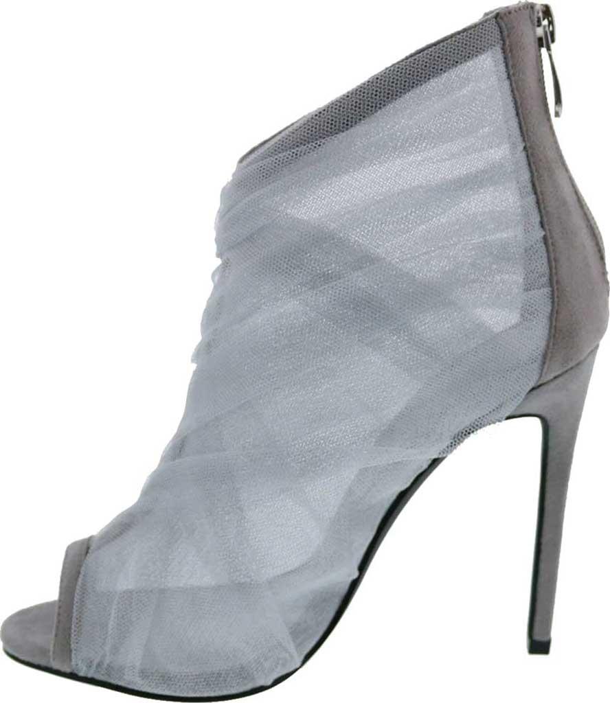 Women's Penny Loves Kenny Skylar Peep Toe Bootie, Grey Tulle Fabric, large, image 3
