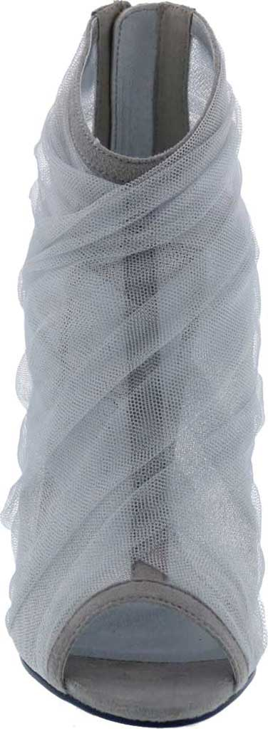 Women's Penny Loves Kenny Skylar Peep Toe Bootie, Grey Tulle Fabric, large, image 4