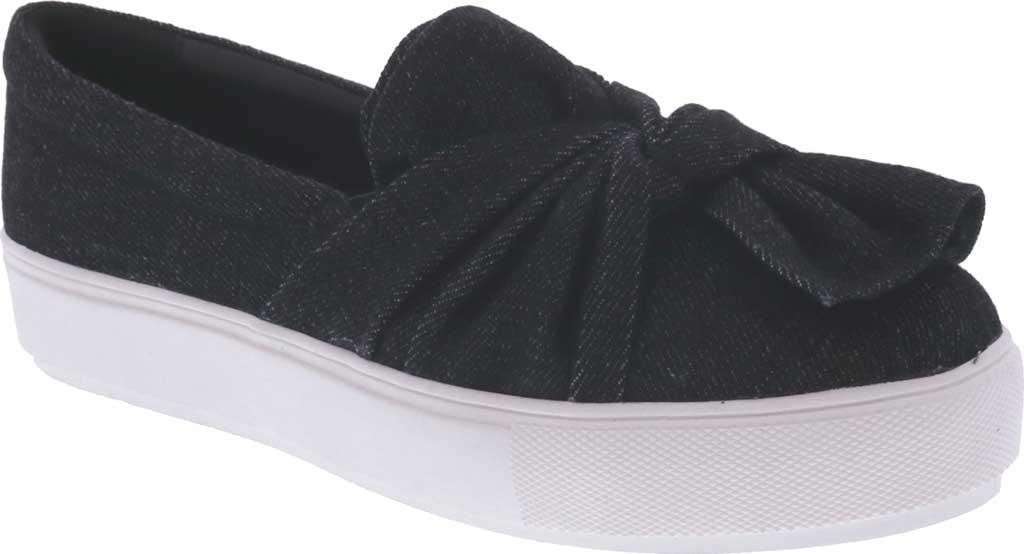 Women's Bellini Twist Sneaker, Black Denim, large, image 1