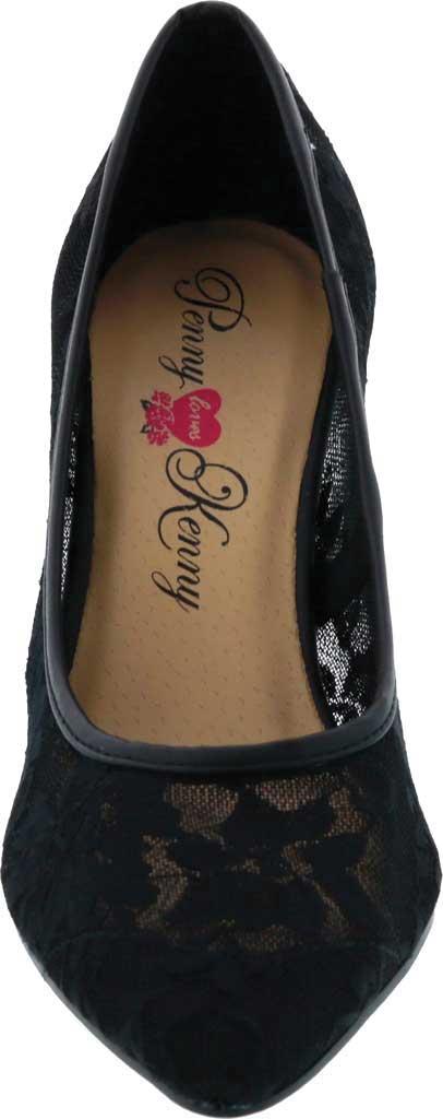 Women's Penny Loves Kenny Union FL Pump, Black Lace, large, image 4