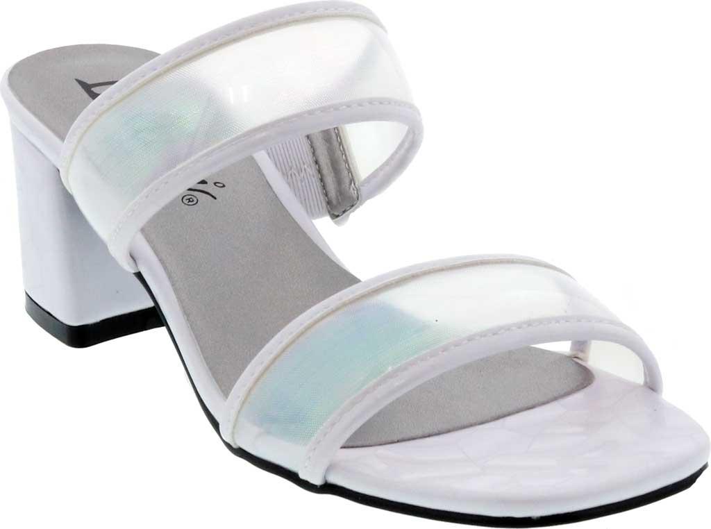 Women's Bellini Fizzle Slide Sandal, White Lucite, large, image 1