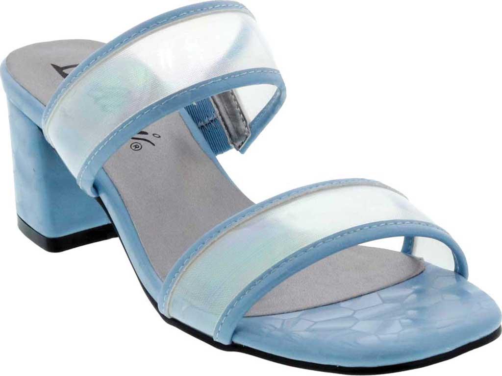Women's Bellini Fizzle Slide Sandal, Blue Lucite, large, image 1