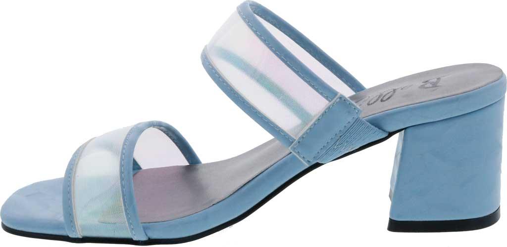 Women's Bellini Fizzle Slide Sandal, Blue Lucite, large, image 3