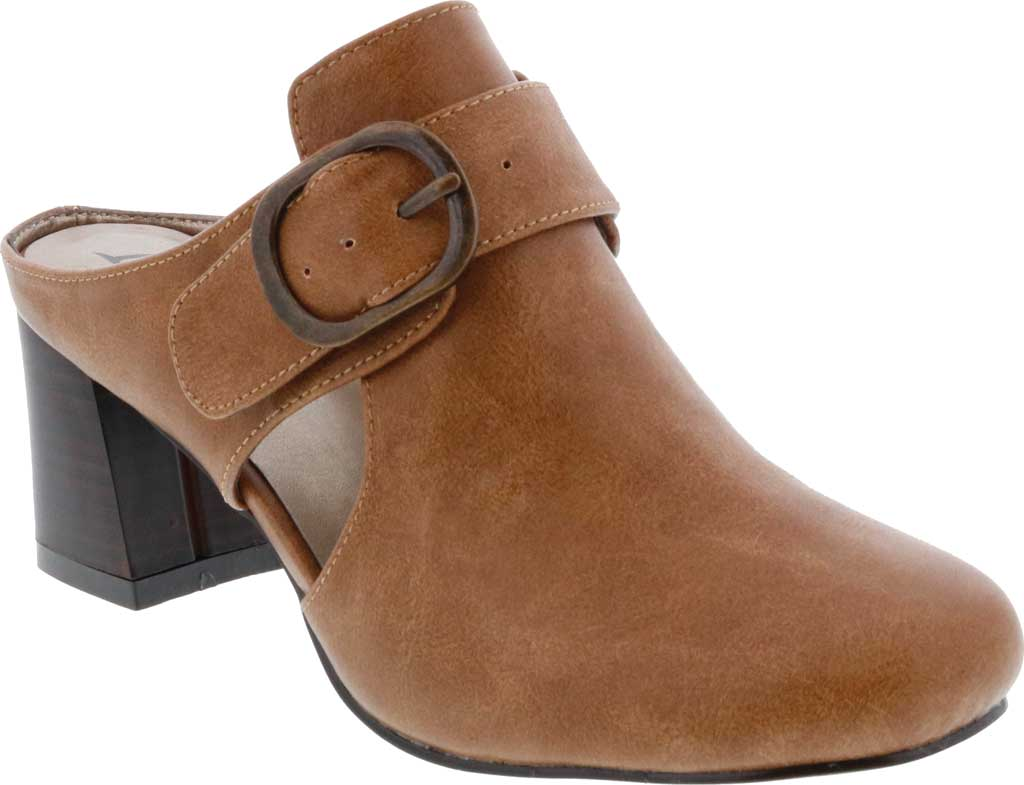 Women's Bellini Piper Block Heel Mule, Brown Faux Buck, large, image 1