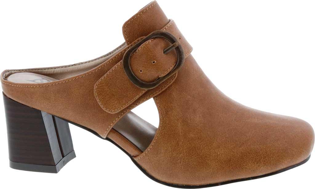 Women's Bellini Piper Block Heel Mule, Brown Faux Buck, large, image 2