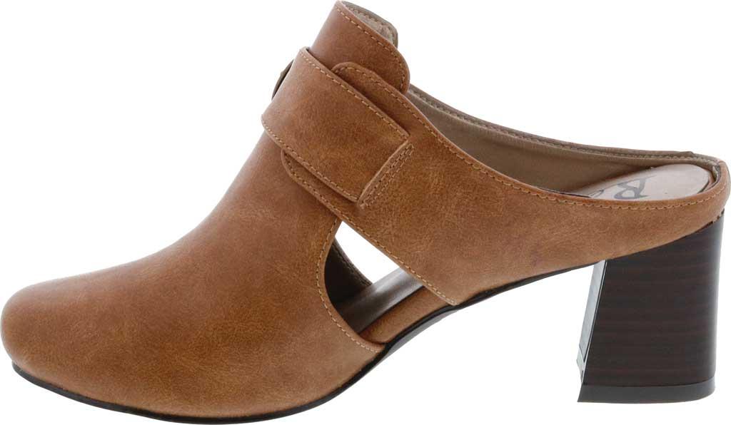 Women's Bellini Piper Block Heel Mule, Brown Faux Buck, large, image 3