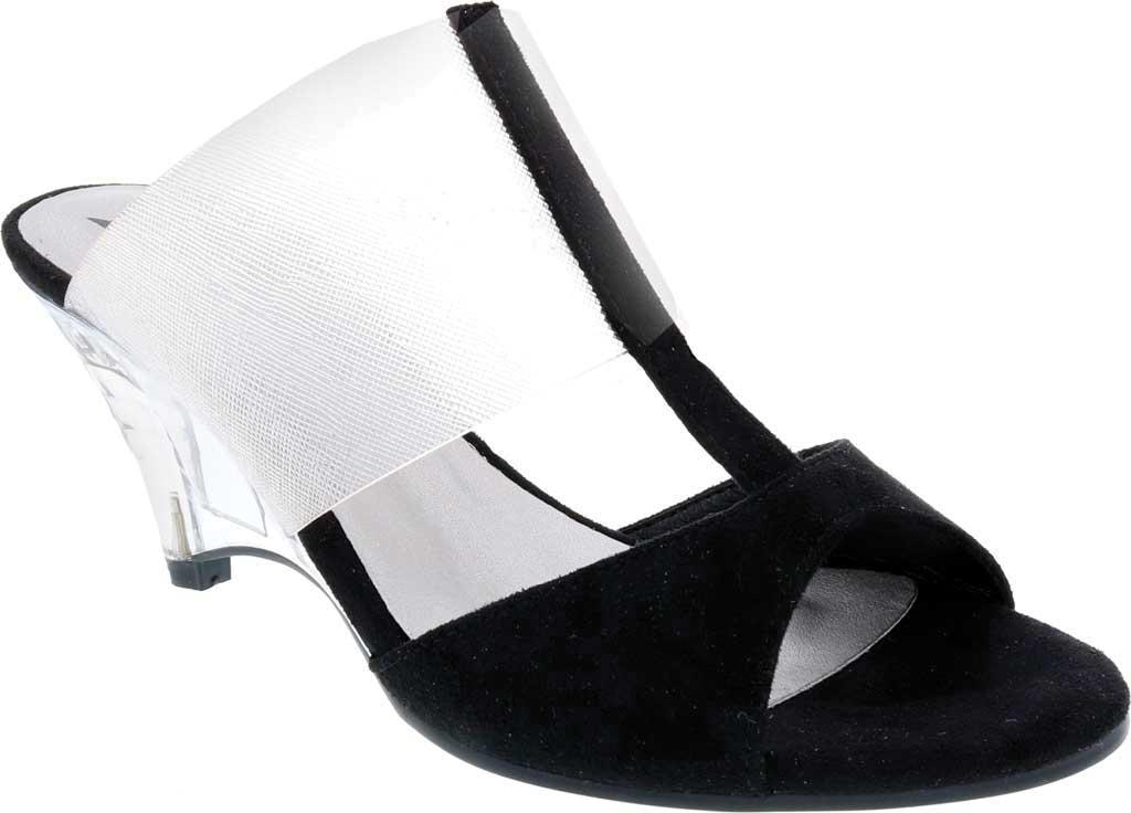 Women's Bellini Iran Peep Toe Slide, Black Lucite/Microsuede, large, image 1