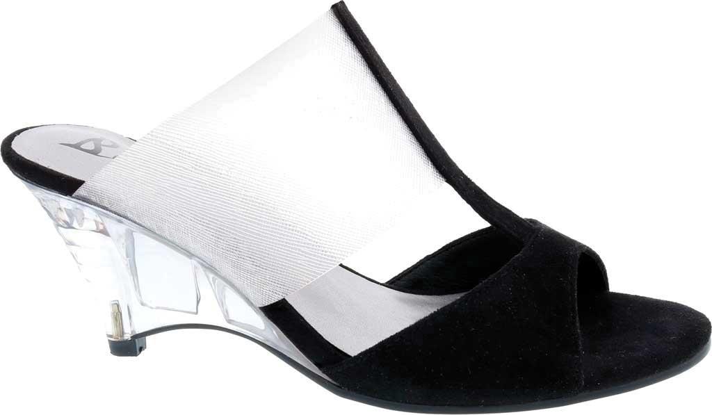 Women's Bellini Iran Peep Toe Slide, Black Lucite/Microsuede, large, image 2