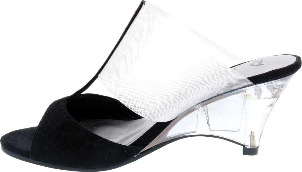 Women's Bellini Iran Peep Toe Slide, Black Lucite/Microsuede, large, image 3