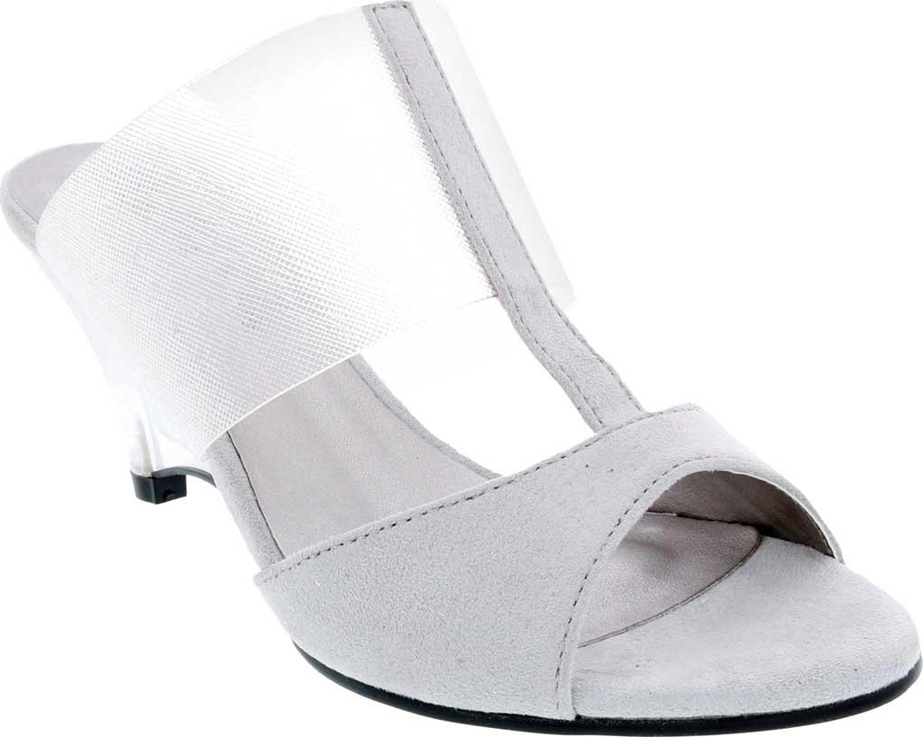 Women's Bellini Iran Peep Toe Slide, Grey Lucite/Microsuede, large, image 1