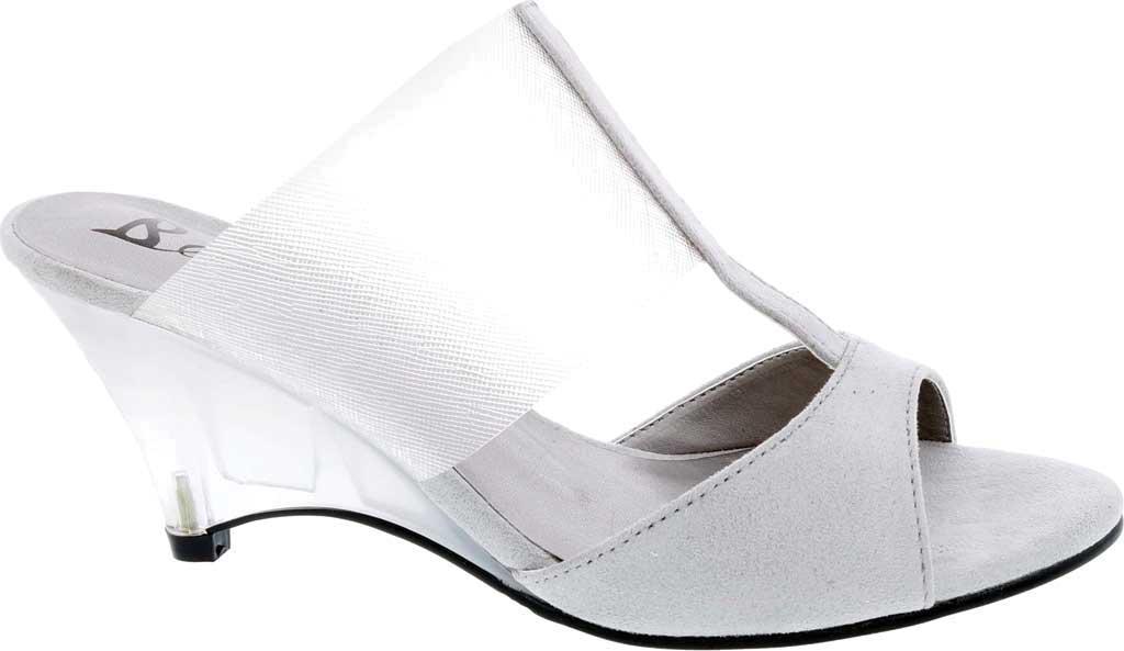 Women's Bellini Iran Peep Toe Slide, Grey Lucite/Microsuede, large, image 2