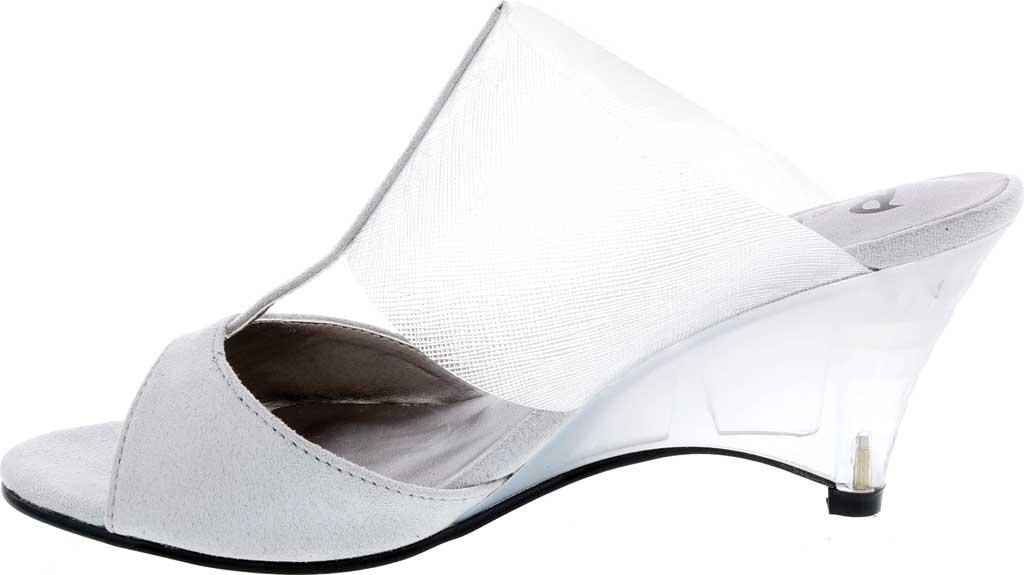 Women's Bellini Iran Peep Toe Slide, Grey Lucite/Microsuede, large, image 3