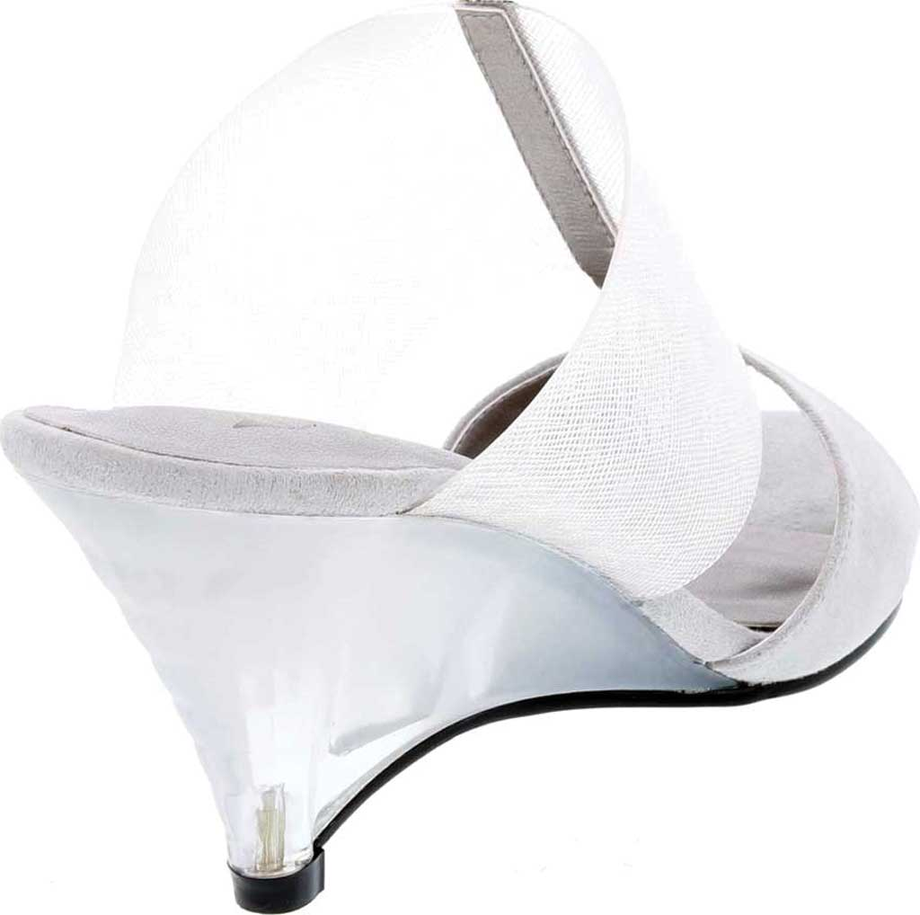 Women's Bellini Iran Peep Toe Slide, Grey Lucite/Microsuede, large, image 4