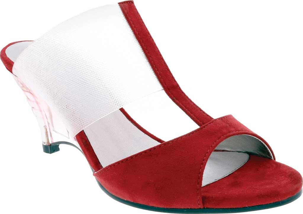 Women's Bellini Iran Peep Toe Slide, Wine Lucite/Microsuede, large, image 1