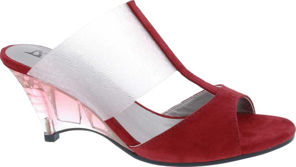 Women's Bellini Iran Peep Toe Slide, Wine Lucite/Microsuede, large, image 2
