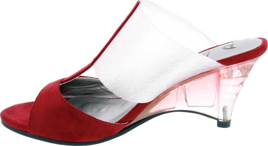 Women's Bellini Iran Peep Toe Slide, Wine Lucite/Microsuede, large, image 3