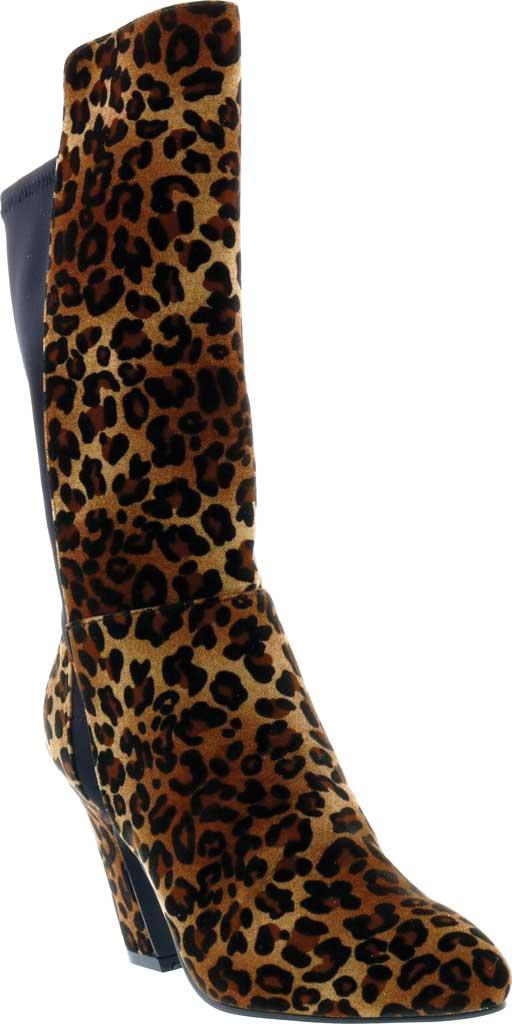 Women's Bellini Chrome Heeled Boot, Leopard Velvet, large, image 1
