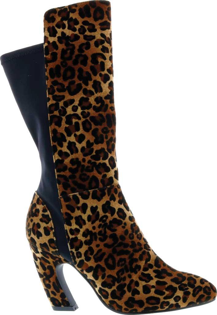 Women's Bellini Chrome Heeled Boot, Leopard Velvet, large, image 2
