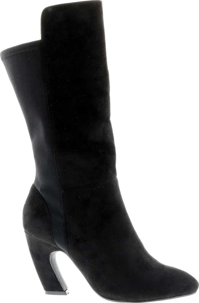 Women's Bellini Chrome Heeled Boot, Black Microsuede/Lycra, large, image 2