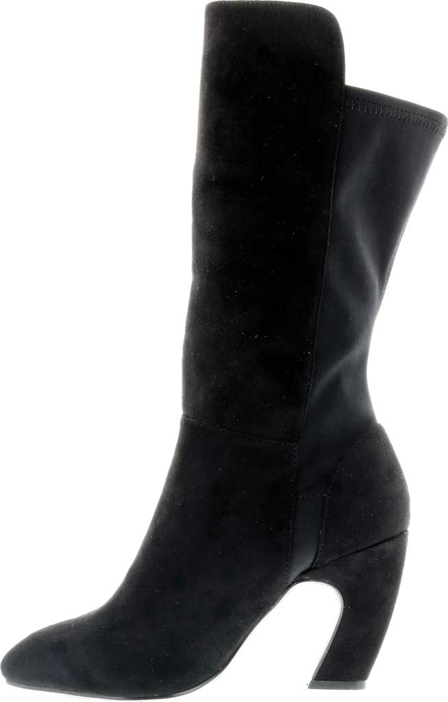 Women's Bellini Chrome Heeled Boot, Black Microsuede/Lycra, large, image 3